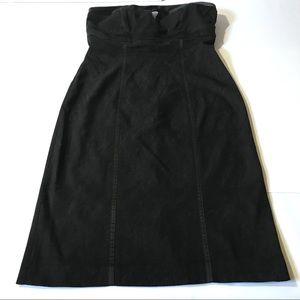 Bebe Strapless Textured Black Dress